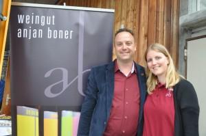 Wine&Dine 2017 Anjan Boner und Fränzi vom Weingut Anjan Boner