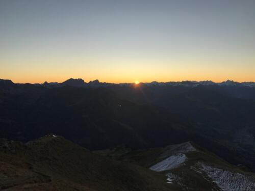 Sonnenaufgang Vilan 13. Oktober 2019