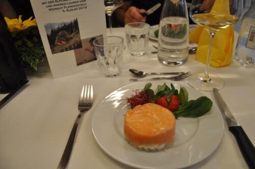 Lachs-Tiramisu Wine  Dine 5.8.2019