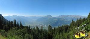 Panorama ab Bergstation Älplibahn